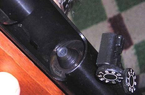 Пулевой вход четко видны нарезы